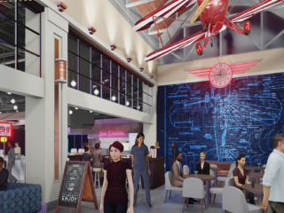 Stengel Field Food Hall at Butler Town Center Rendering