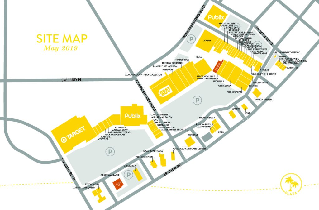 Butler Plaza Site Map